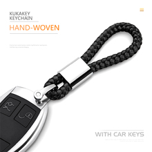 High quality woven leather keychain metal keyrings For Porsche Design Original Cayenne Boxster P5000 Car Key Ring Chains Holder