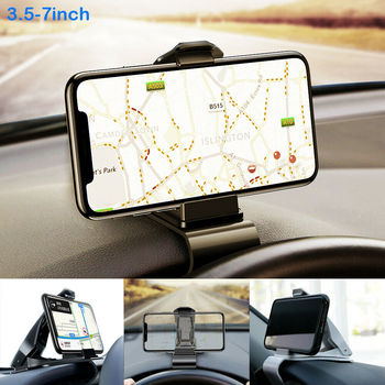 3.5-7 Clip Bullet Dashboard Adjustable Mount Car Dash Phone GPS Holder Bracket For iphone 5 6 7 8 X XS MAX XR for Samsung S10 image