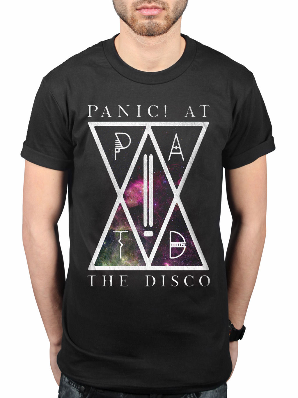 Sale 100% Cotton T Shirt Official Panic At The Disco PATD T-Shirt Disco Too Weird to Live Too Rare to Die