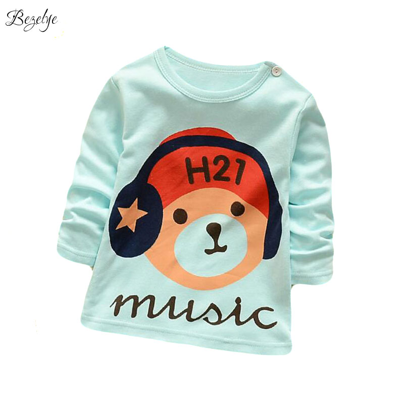 2017 Fashion Boys T-Shirt Infant Shirt for Boys Cotton Baby Clothing T Shirt Print Girl Tees O-Neck Boys Shirt Infant Clothes