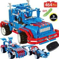 464PCS Technik RC Car Radio Remote Control Blocks Kit Legoingly Technic Trucks Vehicles Farm Tractor DIY Bricks Toys For Boys