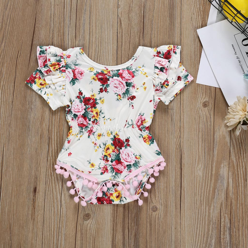 UK Newborn Baby Girl Comfy Striped Romper Jumpsuit Bodysuit Outfit Clothes CANIS