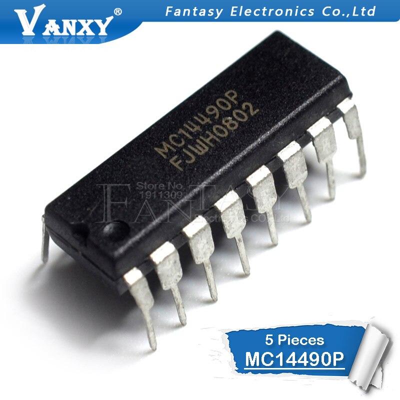 5pcs MC14490P DIP-16 MC14490 DIP16 MC14490PG DIP Logic Chip New Original