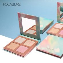 FOCALLURE Glitter Powder Highlighter suit for all kind of skin Makeup Natural Illuminator Palette Professional Cosmetics(China)