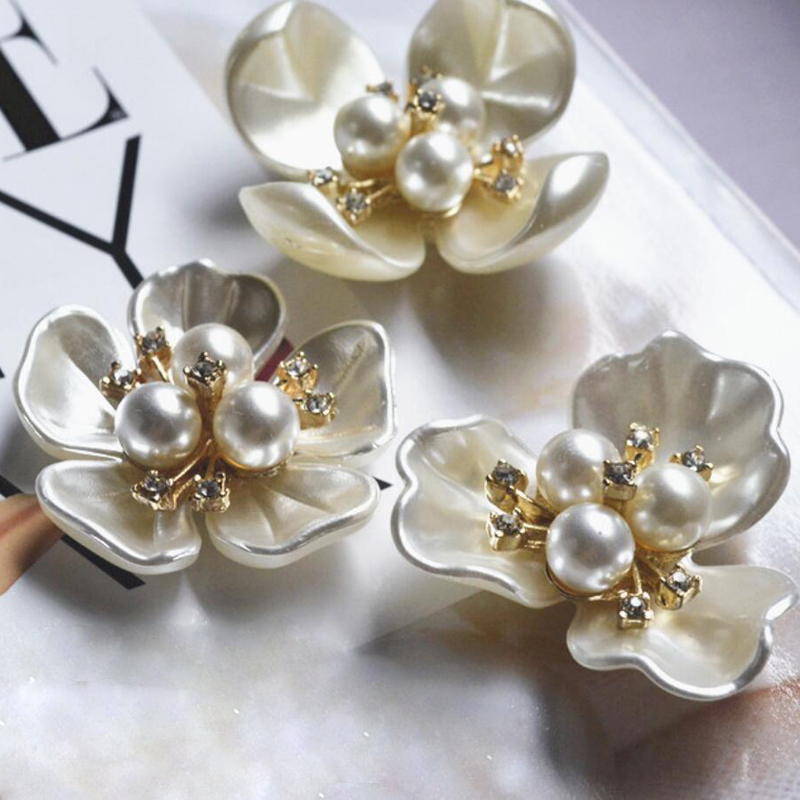 Diy Accessories High End Imitation Pearls Alloy Studded Glue On Disc Drill Deduction Rhinestones Accessories Flowers Apparel Sewing & Fabric