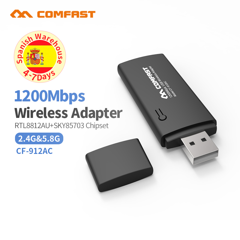 802.11n/g/b/ac Gigabit Wireless USB Wifi Adapter 1200Mbps Lan USB Ethernet 2.4G 5G Dual Band Wi-fi Network Card Wifi Dongle