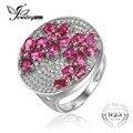 Jewelrypalace flor 3.32ct pigeon blood red rubi anel de casamento sólido 925 sterling silver moda marca de jóias vintage para as mulheres