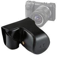 Puluz لسوني nex7 حالة كامل الجسم 18-55 ملليمتر عدسة بو الجلود حقيبة واقية غطاء القضية مع الشريط لسوني nex7 f3 كاميرا حقيبة