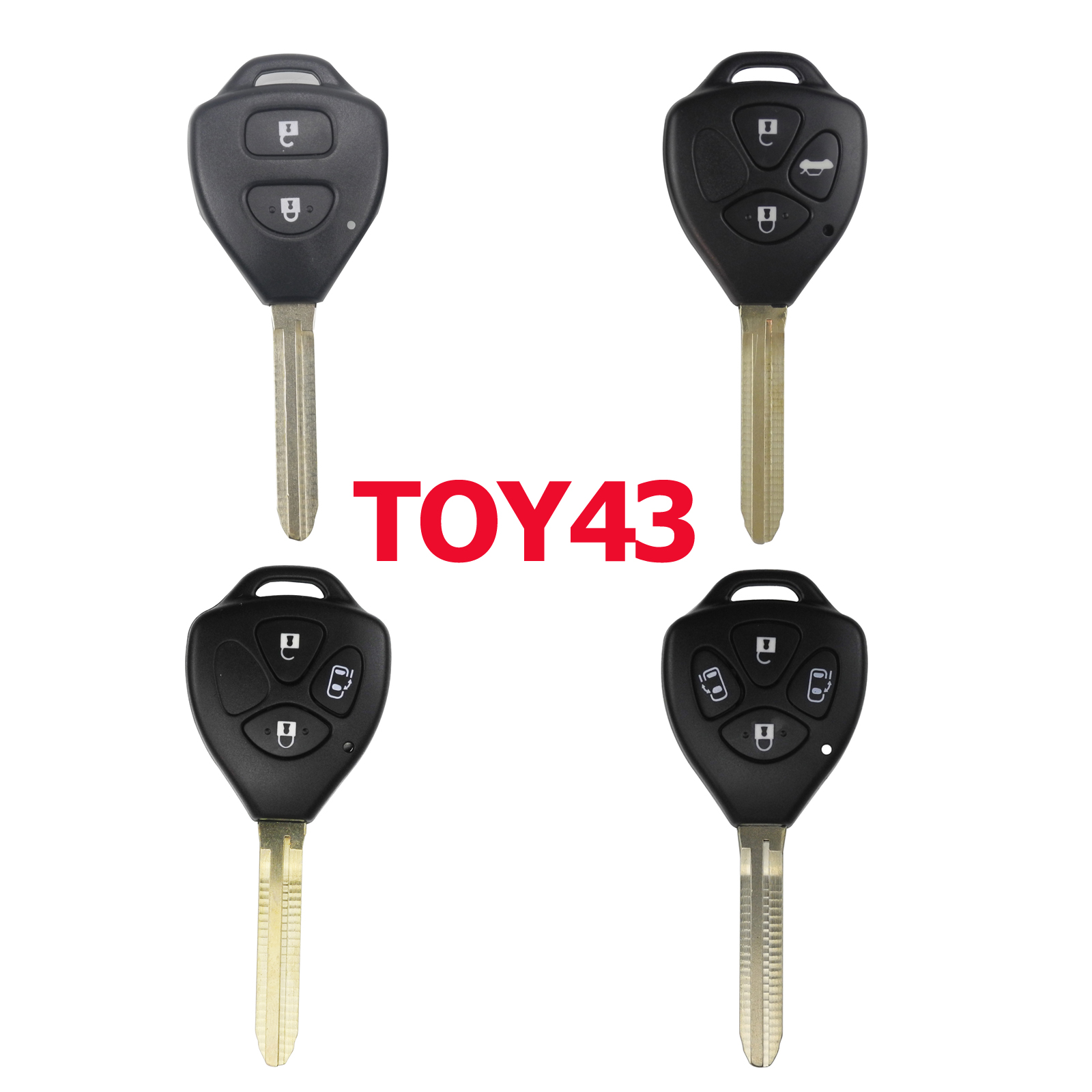 Kutery 2/3/4 Buttons Remote Car Key Case Cover Shell FOB for Toyota Yaris Prado Tarago Camry Corolla TOY43 Car Accessories все цены