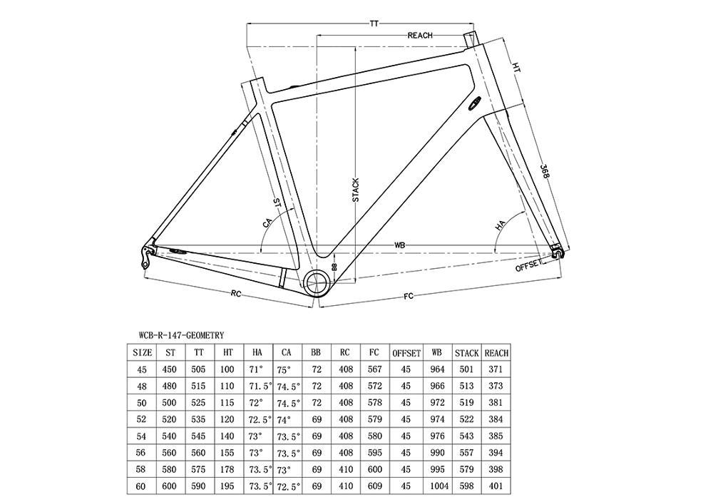 Excelente 60 Cm Bicicleta De Carretera Marco Friso - Ideas ...