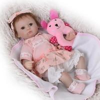 Популярная детская игрушка Reborn Baby Doll с ткани тела 17 дюймов детские игрушки для детей Рождественский подарок и подарок на день рождения Reborn