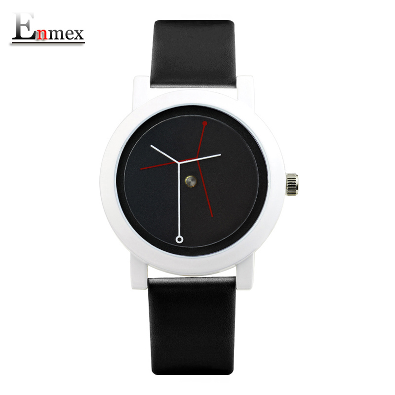 2017  Enmex creative design neutral wristwatch branch concept brief black & white simple face nature fashion quartz lady watches 2017 gift for lady enmex simple design pure white wristwatch fresh and clean style lovely lady fashion clock quartz watches