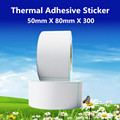 50*80*300pcs per roll Thermal Label Adhesive Stickers 50mm X 80mm Thermal Sensitive Adhesive Sticker Barcode Printer Labels