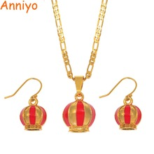 Anniyo PNG Ethnic Tribes Decorative Hat Jewelry Sets Pendant Necklaces Earrings Women Papua New Guinea Traditional Model #170506