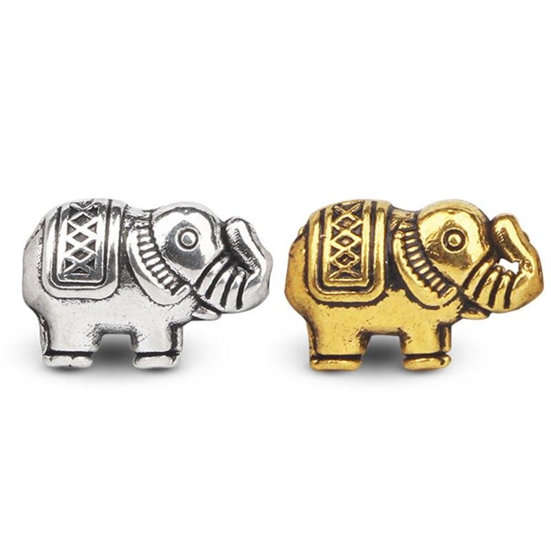 20 sztuk/partia w stylu Vintage stop cynku słoń koraliki modułowe antyczne srebro/złoty urok akcesoria naszyjnik bransoletka przegrody biżuteria znalezienie