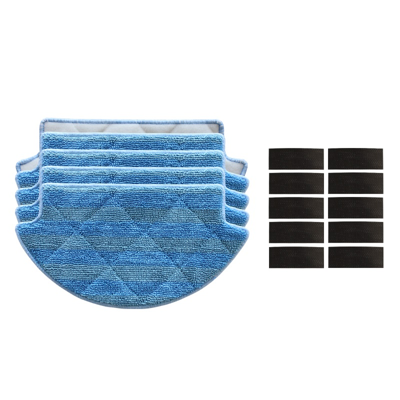 15pcs/lot Mop Cloths Pads magic paste for Xiaomi Robot Vacuum Cleaner Parts mop cloths robotic vacuum cleaner mi robot accessory 12pcs lot high quality robot vacuum cleaner wet mop hobot168 188 window clean mop cloth weeper vacuum cleaner parts