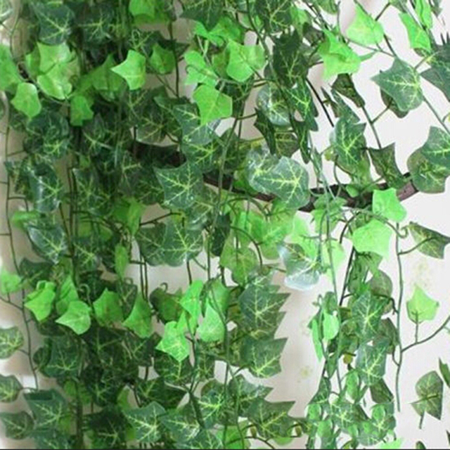 2.5m Beatiful Party Supplies Delicate Artificial Ivy Leaf Garland Plants Vine Fake Foliage Flowers Home Decor