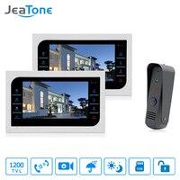 2pcs 10 inch TFT Wired Video Door Phone Intercom + Security Camera Doorbell Home Security System Monitor Door Video Surveillance