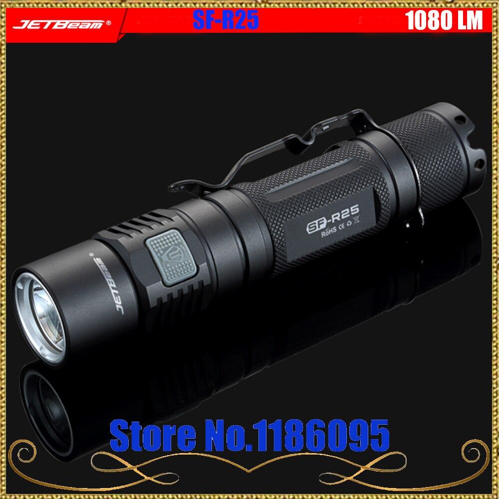 JETBeam SF-R25 Outdoor flashlight CREE XP-L LED 1080LM flashlight jiete мин jetbeam sf aa01 700lm jingdong предназначен для компактного фонарика батареи аа