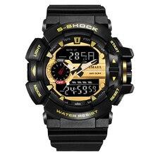 Smael HOT Watch Men Punk Style Waterproof LED Sports Military Watches Shock Men's Analog Quartz Digital Watch relogio masculino