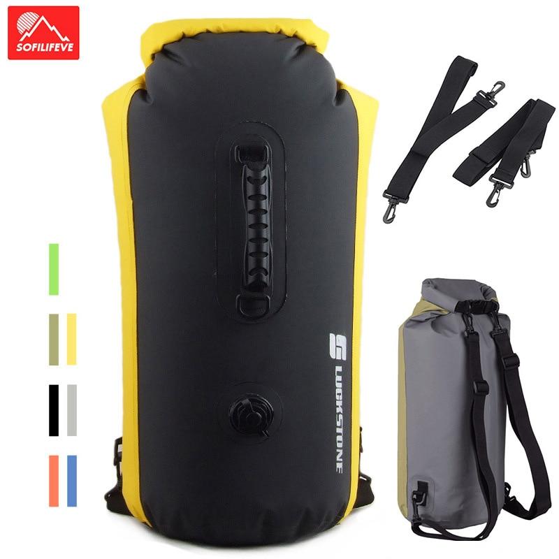 35/60L Waterproof Swimming Backpack Bag Outdoor Travel Kayak Rafting Dry Bag Sack Large Capacity Waterproof Boating Bag Rucksack