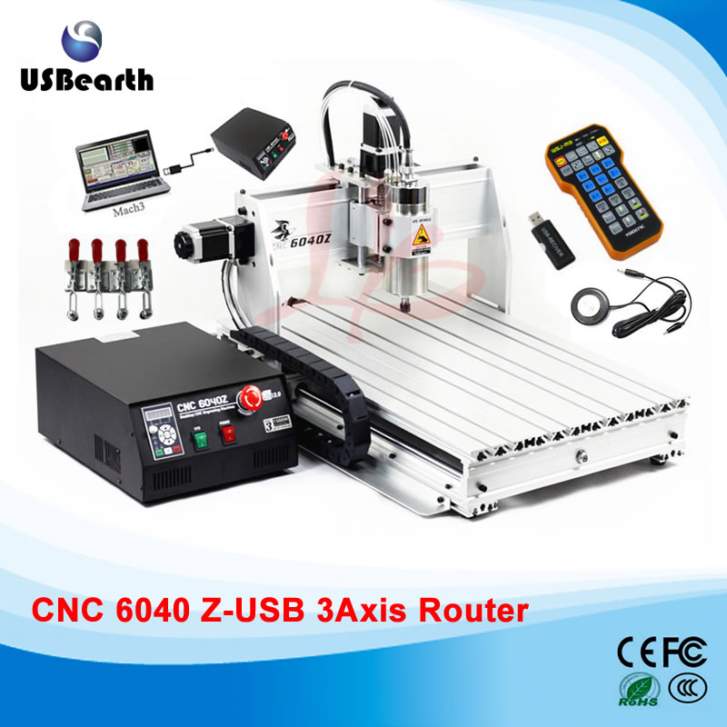 Mini cnc machine 6040Z-USB 3axis mach3 remote control cnc milling machine, free tax to Russia eur free tax cnc 6040z frame of engraving and milling machine for diy cnc router