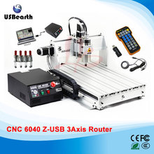 Mini cnc machine 6040Z-USB 3axis mach3 remote control cnc milling machine, free tax to Russia