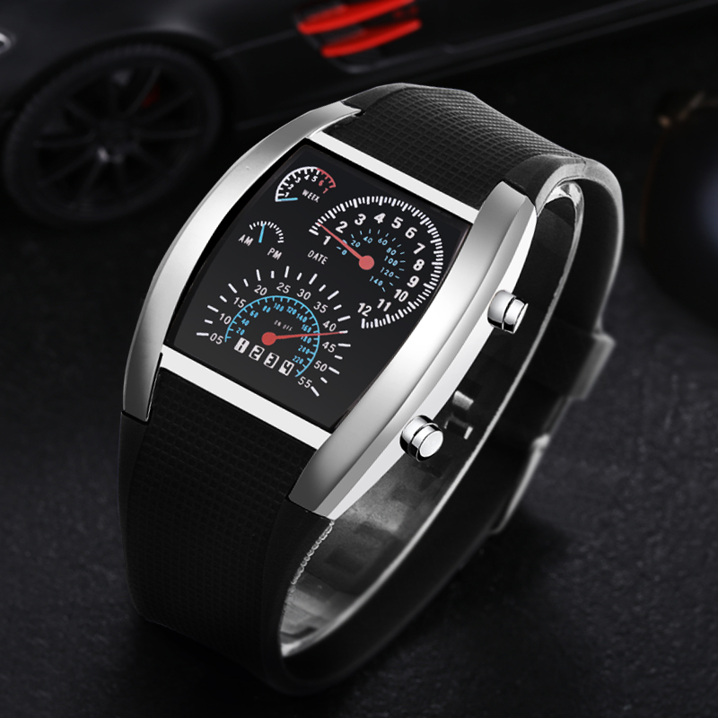 Digital Wrist Watch Electronic Watches Men's Watch LED Clock Erkek Kol Saati Reloj Digital