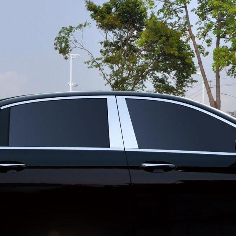 4pcs Aluminum Alloy Window Moulding Trim Decoration For Mercedes Benz E Class W213 E200 E300 2016