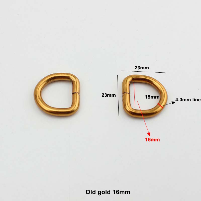 50pcs 7 colors 16mm Opened d ring old gold belt buckle 55379a8f8482