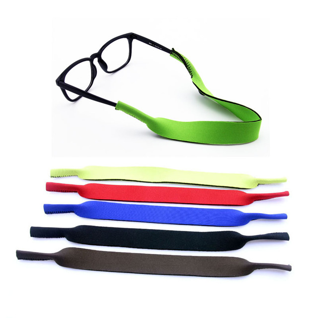 e69d895667cc Wholesale 50pcs Neoprene Glasses cord Strap Head Band Floater sunglasses  chains cords Eyeglass lanyards Stretchy holder 0107