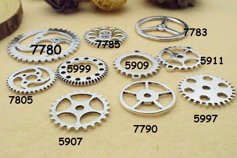 Crafts Pendant Charms For Jewelry Making Antique Steampunk Wheel Gear Aoyoho 100 Gram By Scientific Process Art Supplies
