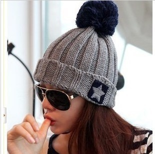 02c78381ed913 Best buy Brand Women Spring Winter Hats Beanies Knitted Cap Crochet Hat  Five pointed star knit cap Chapeu Feminino 90006 online cheap