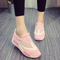 2016 summer women shoes with height-increased mixed color muffin breathable mesh casual shoes popular DT474