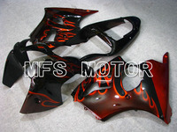 For Kawasaki NINJA ZX6R 2000 2001 2002 00 01 02 Injection ABS Fairing Kits NINJA ZX 6R 00 01 02 Orange Flame Black