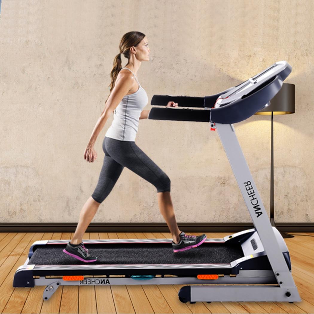 Nouveau 3.0HP DC1.0-14 km/h pliable électrique tapis roulant exercice réduction de graisse équipement de fitness Machine maison Gym offre spéciale