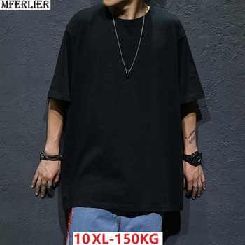 MFERLIER Men's short Sleeve T-shirt Hip hop summer tees Plus large Size Big 5XL tshirt Street dance Cotton 8XL 10XL T-shirts 9XL - DISCOUNT ITEM  25% OFF All Category
