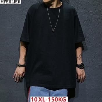 a24cbee6f9 MFERLIER de los hombres manga corta Camiseta de Hip hop camisetas de verano  más grande tamaño grande 5XL camiseta calle algodón de 8XL 10XL camisetas  9XL