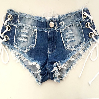 1pcs Womens Sexy jeans denim shorts 2020 Summer Fashion pure cotton lace-up super shorts Ladies Skinny short jeans young women 8
