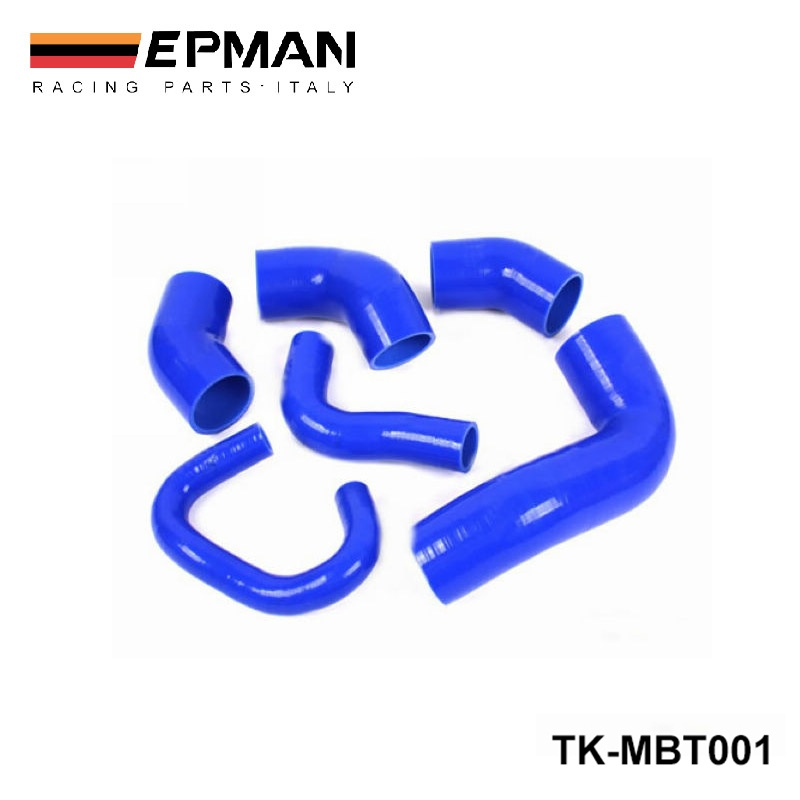 Racing Silicone turbo intercooler hose kit For MIT EVO 7-9 - 2.0L Turbo 4G63 (6pcs) EP-MBT001Racing Silicone turbo intercooler hose kit For MIT EVO 7-9 - 2.0L Turbo 4G63 (6pcs) EP-MBT001