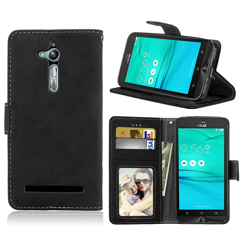 For Asus Zenfone GO TV ZB500KL ZB500KG Flip Cover Matte Skin Leather Wallet Style Case For ZenFone Go zb500kl Covers bag Card