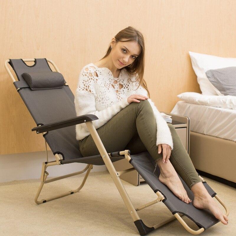 Chaise longue déjeuner pause chaise pliante décontracté adulte sieste lit simple dos canapé paresseux personne canapé maison balcon chaise
