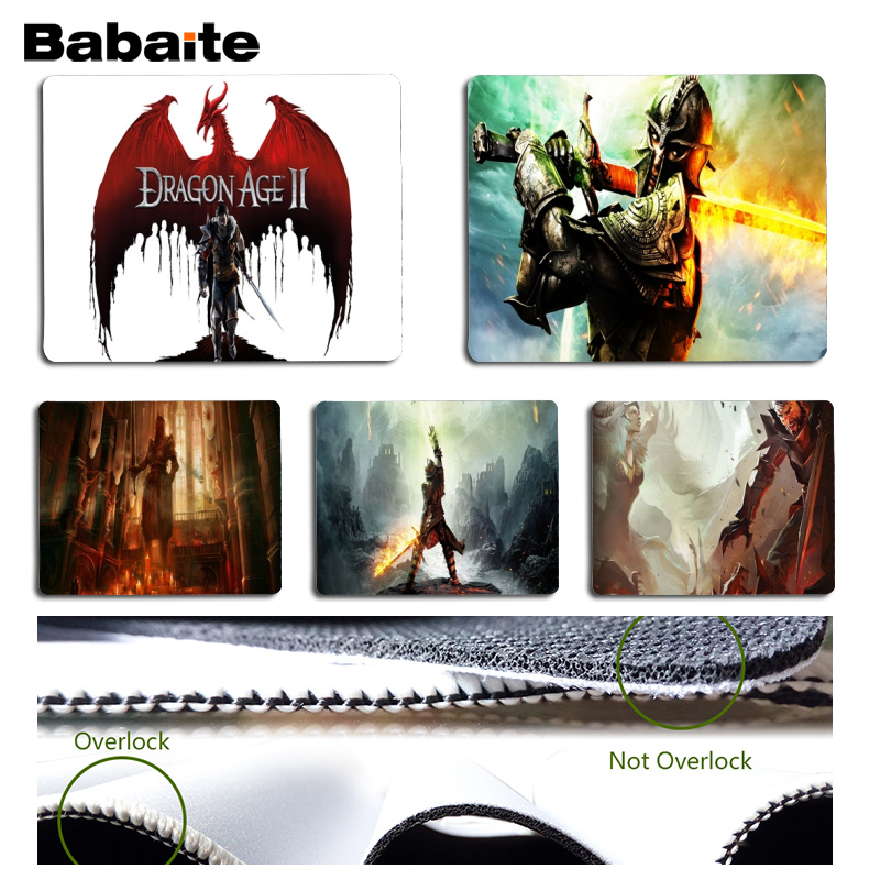 Babaite Your Own Mats Dragon Age Beautiful Anime Mouse Mat Size for 18x22cm 25x29cm Rubber Mousemats