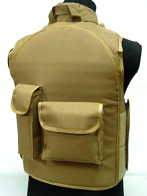 Airsoft tactical sports vest Paintball Tactical Combat Assault Vest Coyote Brown