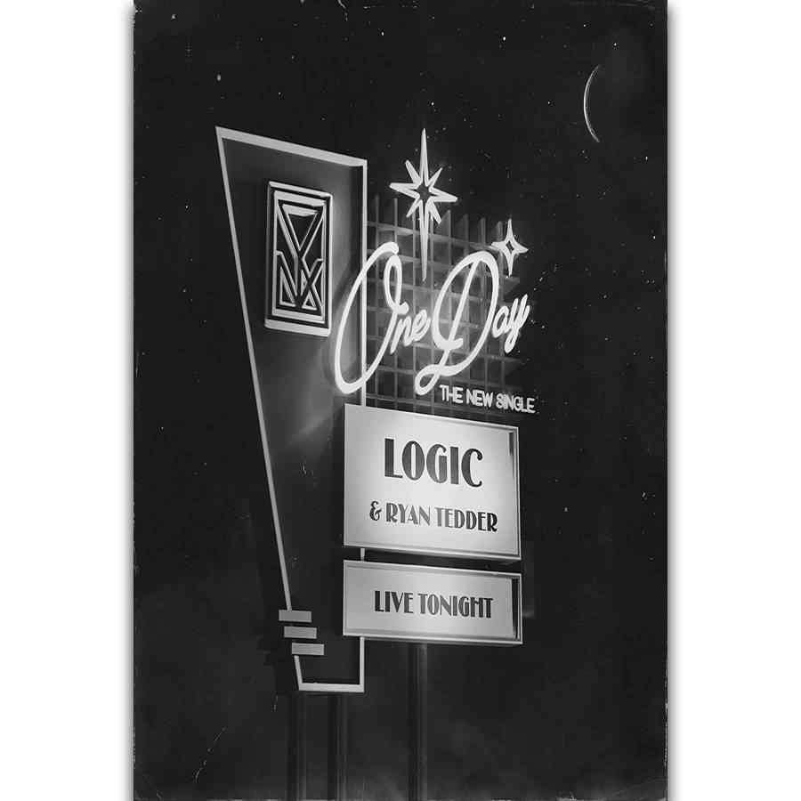508cbaad46b538 S2637 Album Cover Logic One Day Rapper Star Rap Music Wall Art Painting  Print On Silk