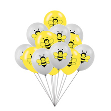 12Inch Yellow Bee Latex Balloons Kids Birthday Decoration Black Dots Balloon Animal Party Supplies