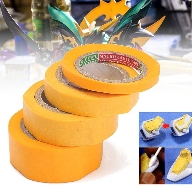 DIY Инструменты для моделирования, инструмент для окрашивания автомобиля, маскирующая лента, Васи бумага, желтый рулон, моделирующее устройство для окраски автомобиля, DIY многофункциональная лента