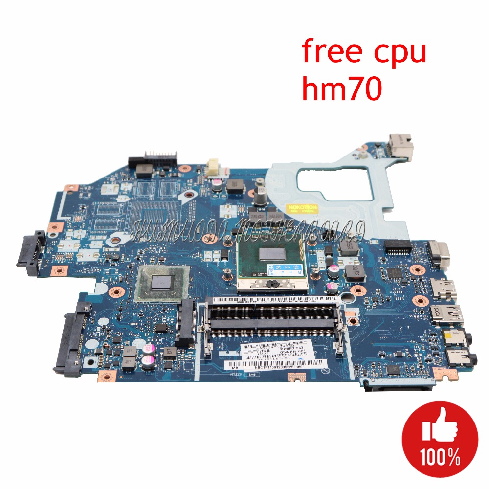 NOKOTION Q5WV1 LA 7912P Laptop motherboard For Acer V3 571 E1 571G Main Board NBC1F11001 NB.C1F11.001 HM70 SJTNV DDR3 Free CPU-in Motherboards from Computer & Office