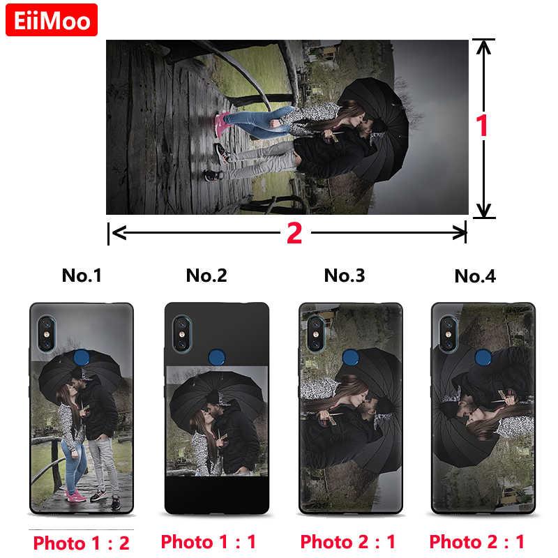 Funda para teléfono con foto personalizada EiiMoo para Huawei P30 P20 Pro P10 P9 P8 Lite 2017 P Smart Plus 2019 logotipo de nombre personalizado de cubierta suave