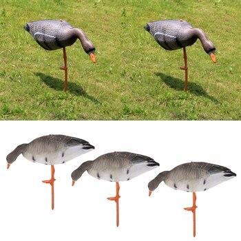 3 Adet EVA Katlanabilir Kaz Av Tuzağı Çim Süsler Bahçe Dekorları Avcılık Çekim Yard Yem